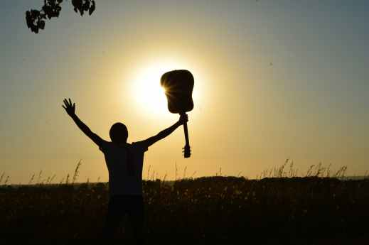 Chitarra tramonto psicologia