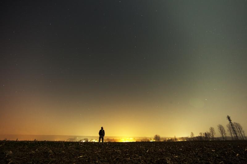 notte stelle luce