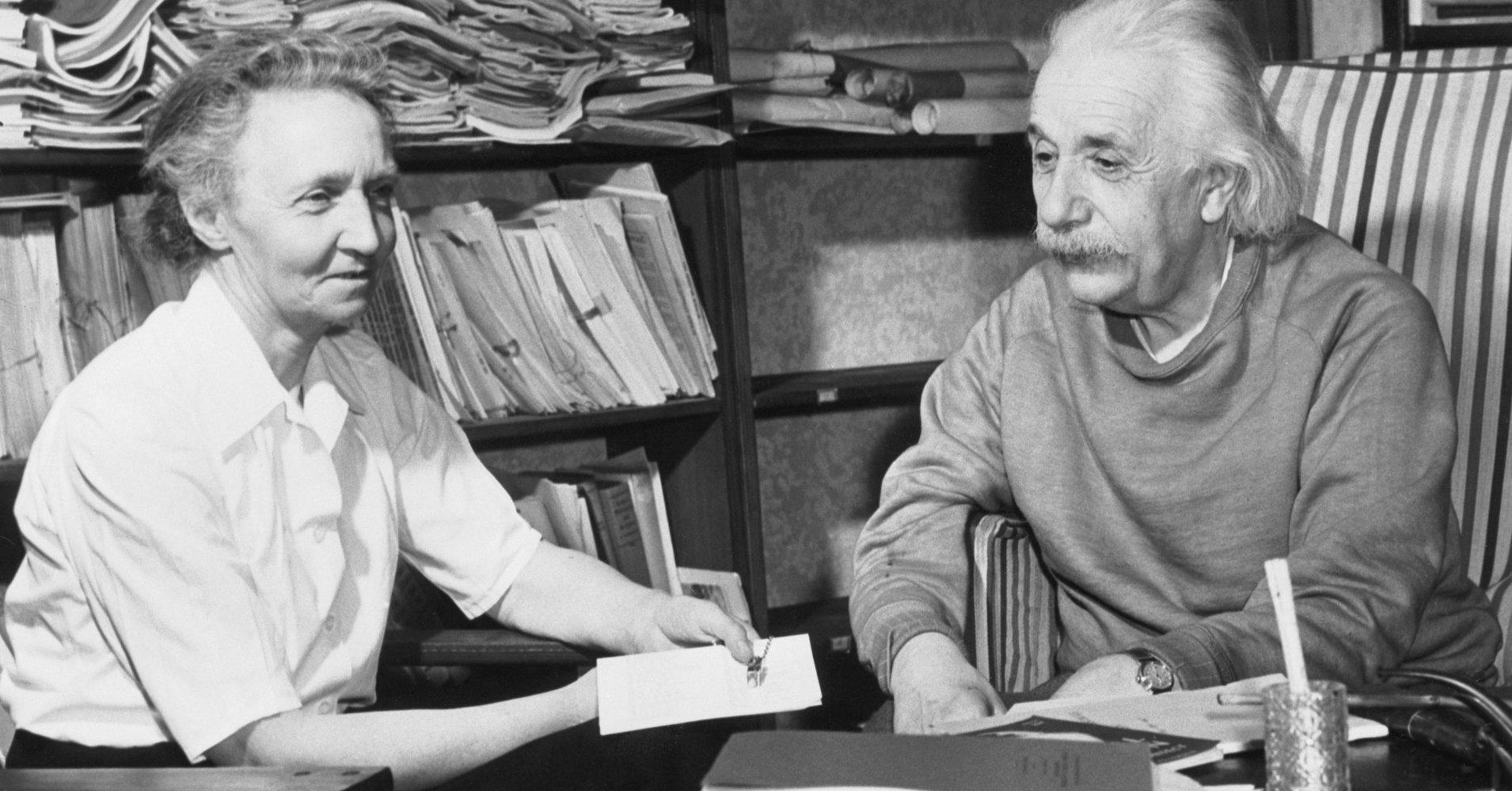 Irene Joliot Curie With Einstein